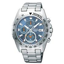 Pulsar Men's PF3979X. Chronograph Alarm With Silver Tone Stainless Steel Case/Bracelet. Blue Dial Wa
