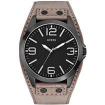 GUESS U0181G3.Black Dial.Grey Leather/Suede Cuff.50m Resist.