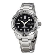 Seiko Men's SNE107 Solar Powered Diver's Watch. Stainless Steel Case/Bracelet. 200m Water Resist. Bl