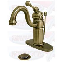 KINGSTON BATHROOM SINK FAUCET VINTAGE BRASS KB1403BL