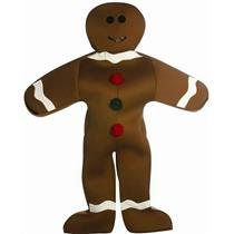 Mr. Gingerbread Man Christmas Cookie Adult Costume