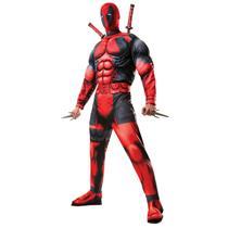 Men's Marvel Universe Classic Muscle Chest Deadpool Costume XL