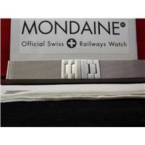 Mondaine Swiss Railways Watch Band A 22mm Mesh Men's Steel Bracelet w/Matte buckle