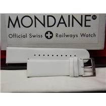 Mondaine Swiss Railways Watch Band A 22mm White Leather Man's Strap FE16822.10Q
