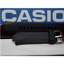 Casio Watch Band EQW-A1000,EQW-M1100 Black Rubber Strap Edifice Tough Solar Mens