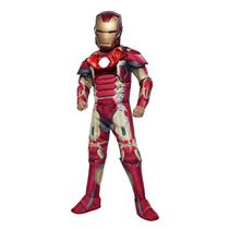 Avengers 2 Age of Ultron Deluxe Iron Man Mark 43 Boys Costume Size Large
