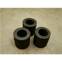 """Lot of 3 Graphite 1 oz Crucibles for Melting Gold-Silver-Copper- 1"""" W x 1"""" Tall"""