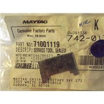 MAYTAG 71001119 SERVICE TOOL, SEALED GAS NUT  NEW IN BAG