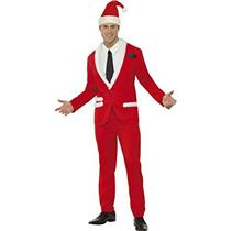 Smiffy's Santa Cool Men's Stylish Red and White Suit Adult Costume Size Medium