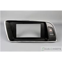 2010 Audi Q5 Trim Bezel for Navigation Unit with Hazard Switch