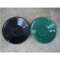 "2 - 8"" Black & Green Gold Pans - Panning - Duel Riffles - Mining Prospecting ***"