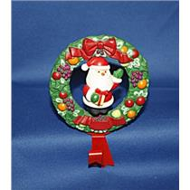 Santa Claus Della Robia Wreath Twirl About Stocking Hanger - TWLSTKG - NO BOX