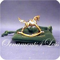 1996 Rocking Horse - Gold Expo Miniature Ornament