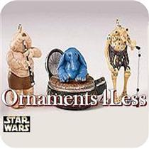 1999 Max Rebo Band - Set of 3 Star Wars Miniatures Ornaments - QXI4597 - SDB