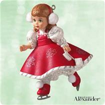 2003 Madame Alexander #8 - Holiday Snowflake Skater - QX8137 - DB WITH NO MEMORY CARD