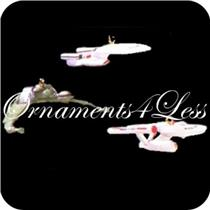 1995 The Ships of Star Trek - Set of 3 Miniature Ornaments - QXI4109 - SDB