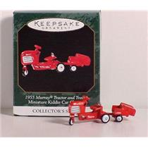 1999 Miniature Kiddie Car Classics #5 - 1955 Murray Tractor and Trailer - QXM4479