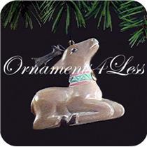 1991 Folk Art Reindeer - QX5359 - DB