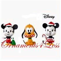 Hallmark Miniature Ornament 2008 All Set for Christmas - Set of 3 - #QXM8124-SDB