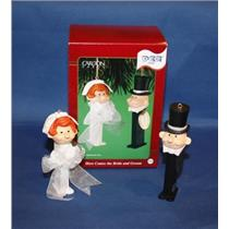 Carlton 2001 Here Comes the Bride and Groom Pez Set - CXOR-094E