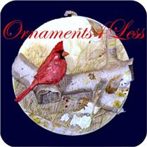 1995 Christmas Cardinal - Nature's Sketchbook - QK1077 - SIGNED BY ARTIST
