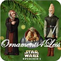2000 Jedi Council Members - Set of 3 Star Wars Miniature Ornaments - QXI6744