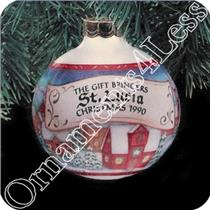 1990 Gift Bringers #2 - St. Lucia - Glass Ball - NR-MINT BOX