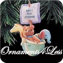 1997 Babys First Christmas - Bear in Noah's Ark - QX6485 - SDB