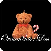 1996 Christmas Bear - Miniature Ornament - QXM4241 - SDB