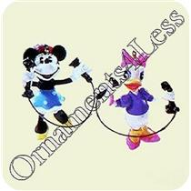1999 Girl Talk - Set of 2 Disney Miniature Ornaments - QXD4069