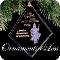 1995 Twelve Days of Christmas #12 - Twelve Drummers Drumming - QX3009 - DB
