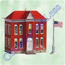 2003 Town and Country #5 - Schoolhouse and Flagpole - QX8247 - DB