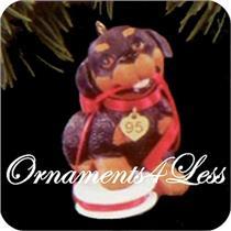 1995 Puppy Love #5 - Rottweiler - QX5137 - NEAR-MINT BOX