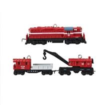 2013 Lionel Minneapolis and St. Louis Work Train - Set of 3 Miniature Ornaments - QXM8502 - SDB