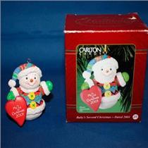 Carlton 2001 Baby's Second Christmas - Snowman - CXOR-025E -  SDB
