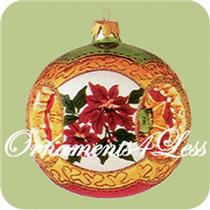 1998 Holiday Traditions #1 - Red Poinsettias - QBG6906
