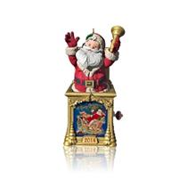 Hallmark Series Ornament 2014 Santa Certified #2 - Santa in a Box - #QX9006-SDB