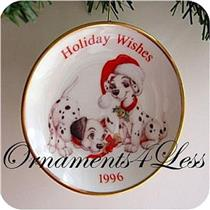 1996 Holiday Wishes Plate - Disney's 101 Dalmatians