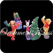 1998 Tree Trimmin' Time - Set of 3 Winnie the Pooh Miniature Ornaments - QXD4236 - SDB