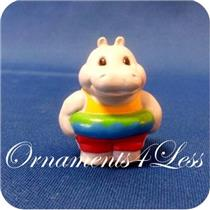 1993 Hippopotamus in Inner Tube - Merry Miniature