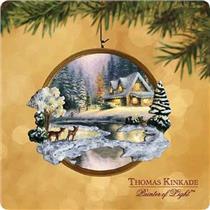 Hallmark Keepsake Ornament 2002 Deer Creek Cottage - Thomas Kinkade #QXI5276-SDB