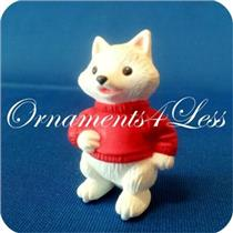 1994 Arctic Fox on Skates - Merry Miniature