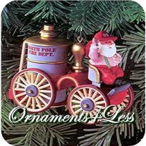 1985 Here Comes Santa #7 - Santa's Fire Engine - QX4965 - SDB