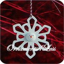 2007 Porcelain Snowman Snowflake Ornament - XRC4585