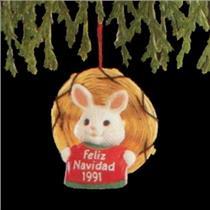 1991 Feliz Navidad - Miniature Ornament - QXM5887 - DB