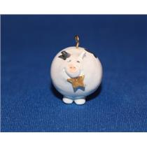 1989 Roly Poly Pig - Miniature Ornament - QXM5712 - DB WITH NO TAG