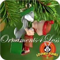 2000 Bugs Bunny and Elmer Fudd - Looney Tunes Miniature Ornament - QXM5934