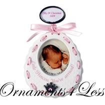 Carlton 2009 Baby Girls - Pink Bib Photo Holder - 09-007V