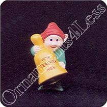 1989 Teacher Elf With Bell - For Teacher Merry Miniature