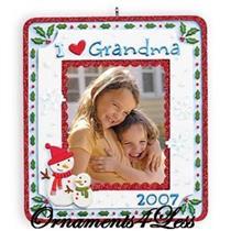 2007 I Love Grandma - Photo Holder - QXG6189